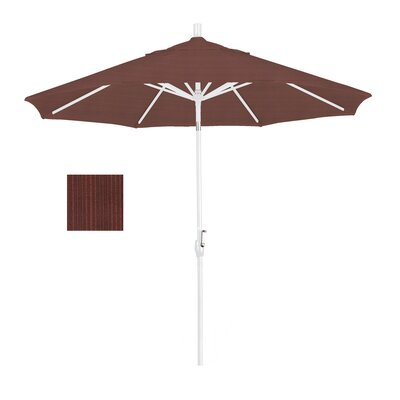 9' Finial Round Umbrella Frame Finish: Matted White, Fabric: Terrace Adobe GSPT908170-FD12