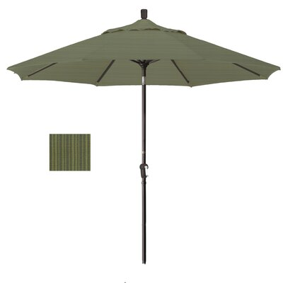 9 Market Umbrella Fabric: Terrace Fern, Frame Finish: Bronze