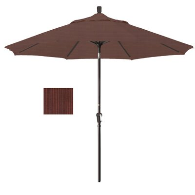 9 Market Umbrella Fabric: Terrace Adobe, Frame Finish: Bronze