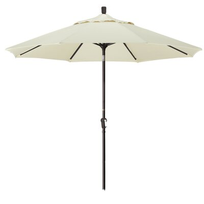 9 Market Round Canopy Umbrella Fabric: Natural, Frame Finish: Bronze