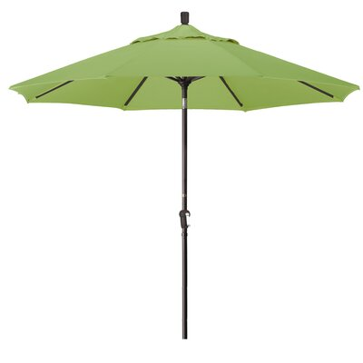 9 Market Round Canopy Umbrella Fabric: Ginkgo, Frame Finish: Bronze