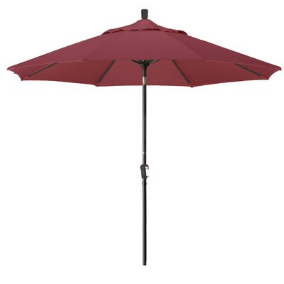 9 Market Round Canopy Umbrella Fabric: Burgandy, Frame Finish: Bronze