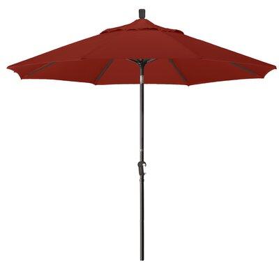 9 Market Round Canopy Umbrella Fabric: Brick, Frame Finish: Bronze