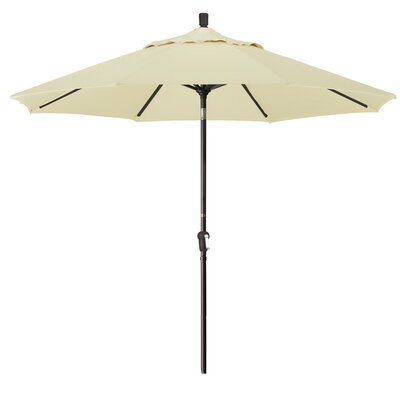 9 Market Round Canopy Umbrella Fabric: Canvas, Frame Finish: Bronze