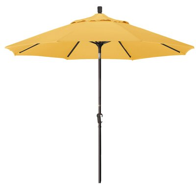 9 Market Round Canopy Umbrella Fabric: Yellow, Frame Finish: Bronze