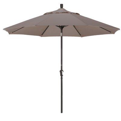 9 Market Round Canopy Umbrella Fabric: Taupe, Frame Finish: Bronze
