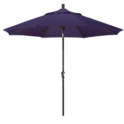 9 Market Round Canopy Umbrella Fabric: Purple, Frame Finish: Bronze