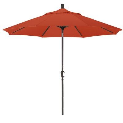 9' Pacifica Canopy Umbrella Frame Finish: Bronze, Fabric: Terracotta SDAU908117-F69