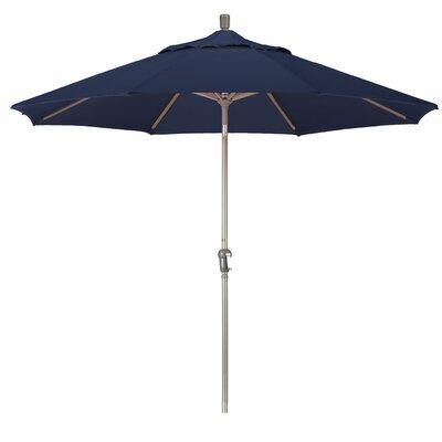 9' Pacifica Canopy Umbrella Frame Finish: Champagne, Fabric: Navy Blue SDAU908900-F09