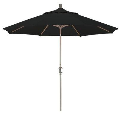 9' Market Umbrella Frame Finish: Champagne, Fabric: Black SDAU908900-F32
