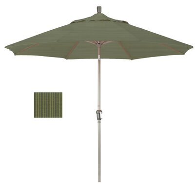 9 Market Umbrella Frame Finish: Champagne, Fabric: Terrace Fern