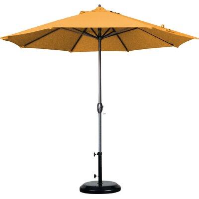 9 Market Umbrella Fabric: Pacifica - Pacific Blue, Frame Finish: Bronze