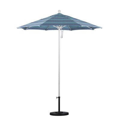 7.5 Market Umbrella Color: Dolve Oasis, Frame Finish: White