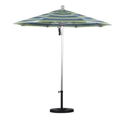 7.5 Market Umbrella Frame Finish: Silver Anodized, Color: Seville Seaside