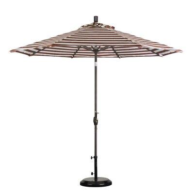 9 Market Umbrella Color: Brick White Cabana Stripe