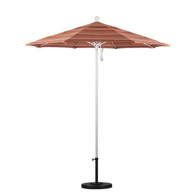 7.5 Market Umbrella Color: Dolve Mango, Frame Finish: White