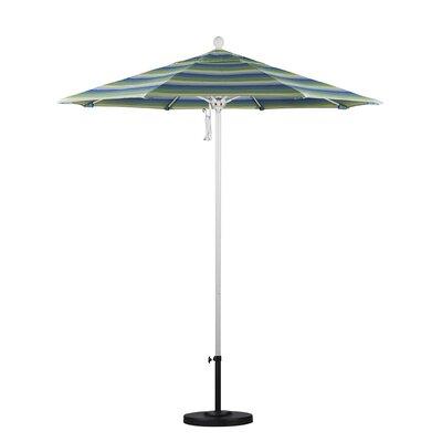 7.5 Market Umbrella Color: Seville Seaside, Frame Finish: White
