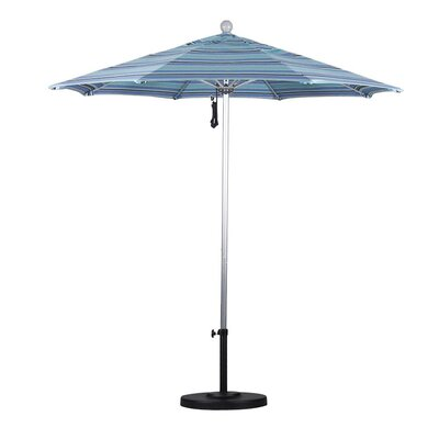 7.5 Market Umbrella Frame Finish: Silver Anodized, Color: Dolve Oasis