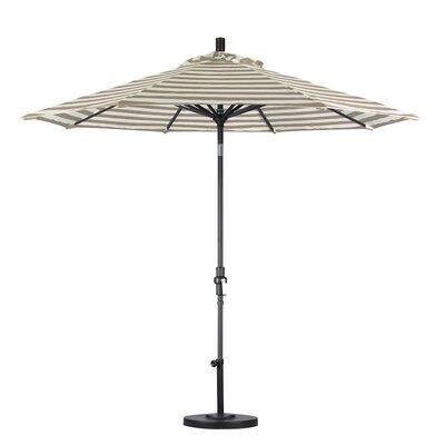 9 Market Umbrella Color: Beige White Cabana Stripe, Frame Finish: Matte Black