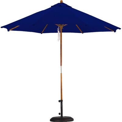 9' Wood Pulley Open Market Umbrella SOW908-P04