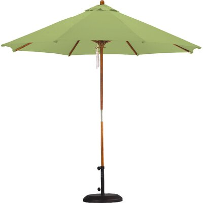 9 Market Umbrella Fabric: Polyester Lime Green
