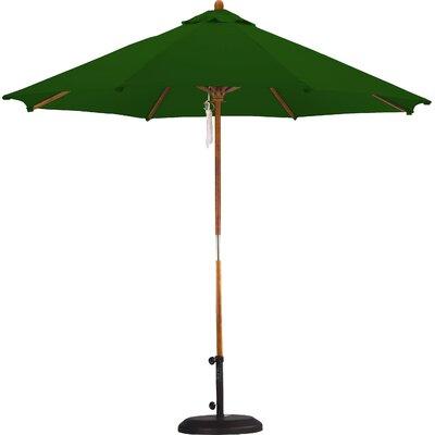 9 Market Umbrella Fabric: Polyester Hunter Green