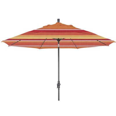 11 Market Umbrella Color: Dolce Mango, Frame Finish: Matte Black