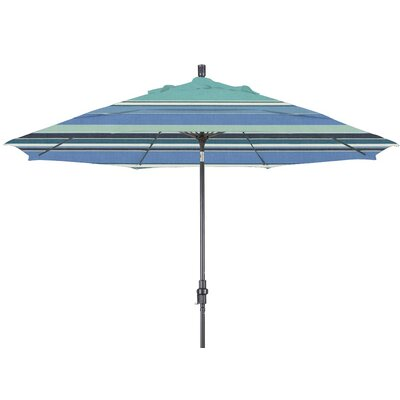 11 Market Umbrella Color: Dolce Oasis, Frame Finish: Matte Black