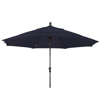 11 Market Umbrella Frame Finish: Champagne, Color: Navy Blue