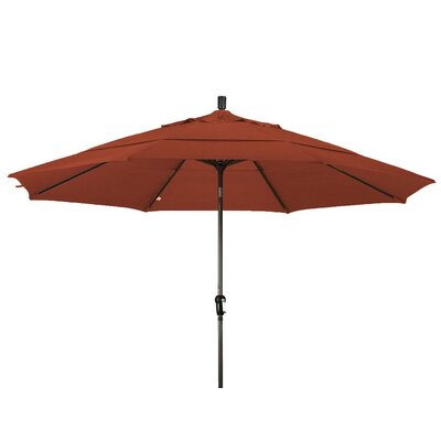 11 Market Umbrella Color: Terracotta, Frame Finish: Bronze