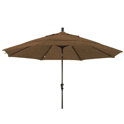 11 Market Umbrella Frame Finish: Champagne, Color: Teak