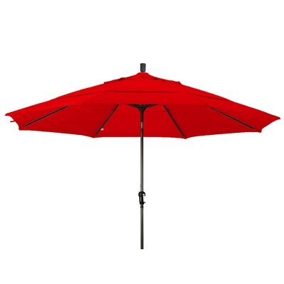 11 Market Umbrella Frame Finish: Champagne, Color: Red