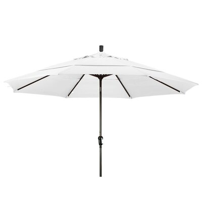 11 Market Umbrella Frame Finish: Champagne, Color: White