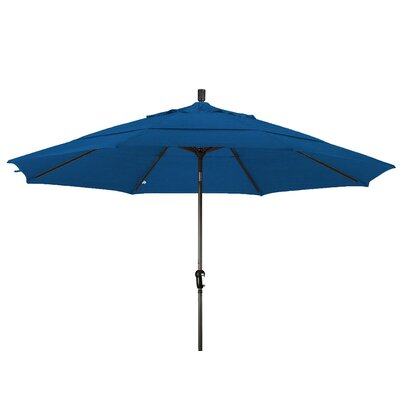 11 Market Umbrella Frame Finish: Champagne, Color: Royal Blue
