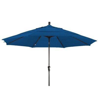 11 Market Umbrella Frame Finish: Bronze, Color: Royal Blue