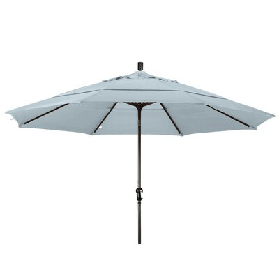 11 Market Umbrella Frame Finish: Bronze, Color: Frost Blue