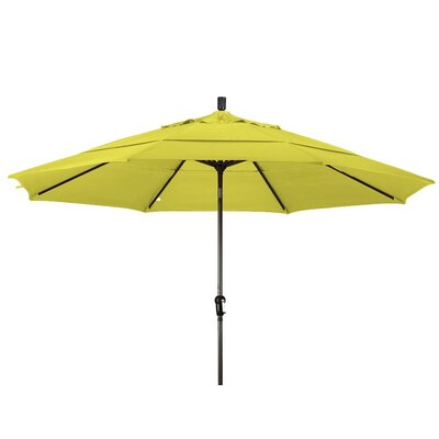 11 Market Umbrella Frame Finish: Bronze, Color: Lemon