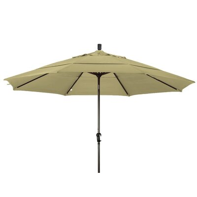 11 Market Umbrella Color: Straw, Frame Finish: Bronze