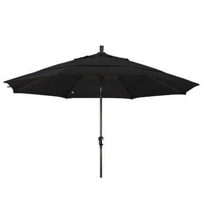 11 Market Umbrella Color: Black, Frame Finish: Bronze