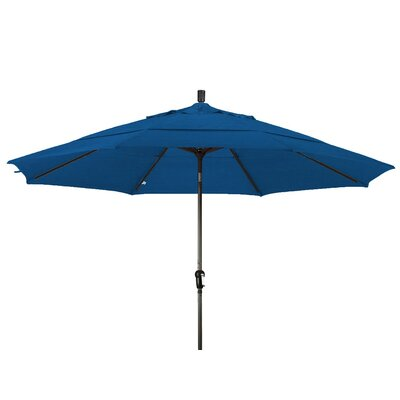 11 Market Umbrella Frame Finish: Champagne, Color: Pacific Blue