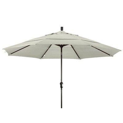 11 Market Umbrella Color: Natural, Frame Finish: Bronze