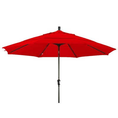 11 Market Umbrella Color: Red, Frame Finish: Bronze