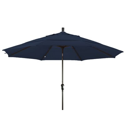 11 Market Umbrella Frame Finish: Bronze, Color: Navy Blue