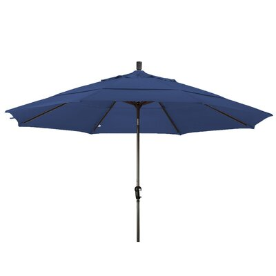 11 Market Umbrella Frame Finish: Champagne, Color: Sapphire