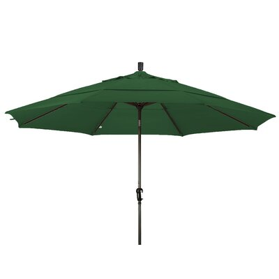 11 Market Umbrella Frame Finish: Champagne, Color: Hunter Green