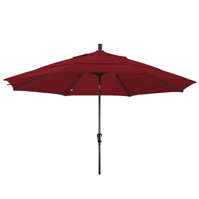 11 Market Umbrella Frame Finish: Bronze, Color: Brick