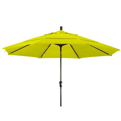 11 Market Umbrella Frame Finish: Bronze, Color: Yellow