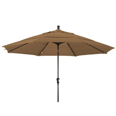 11 Market Umbrella Frame Finish: Champagne, Color: Mocha