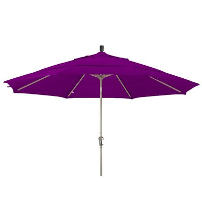 11 Market Umbrella Frame Finish: Champagne, Color: Purple