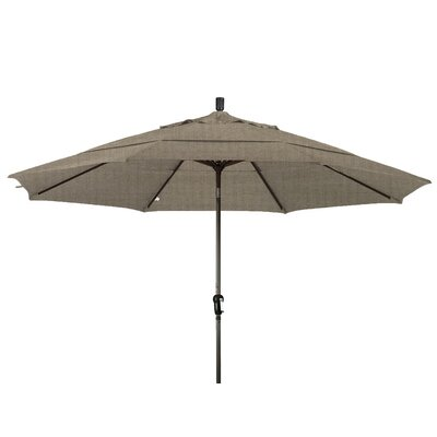 11 Market Umbrella Frame Finish: Bronze, Color: Taupe